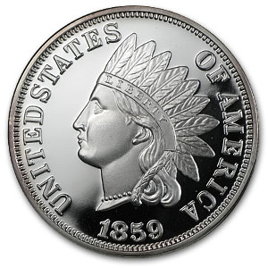 2 oz Silver Round - Indian Head Cent (Replica)